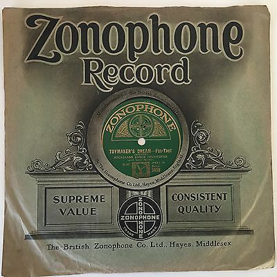 """Arcadians Dance Orchestra - 'When I met Connie in the Cornfield' 10"""" 78 rpm"""
