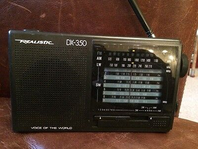 "Realistic DX-350 ""Voice Of The World"" Radio AM/FM/LW/SW 1-9 Receiver"