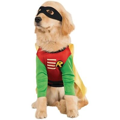Robin Costume Pet Superhero Dog Halloween Fancy Dress