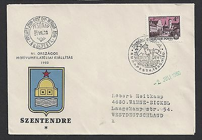 Hungary 1980 First Day Cover Szentendre Cachet to West Germany
