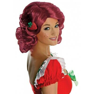 Adult Strawberry Shortcake Wig for Womens Halloween Costume Fancy Dress