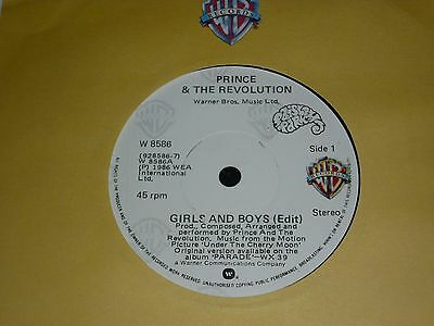 "PRINCE & THE REVOLUTION - Girls and Boys - IRISH 7"" - WARNER"