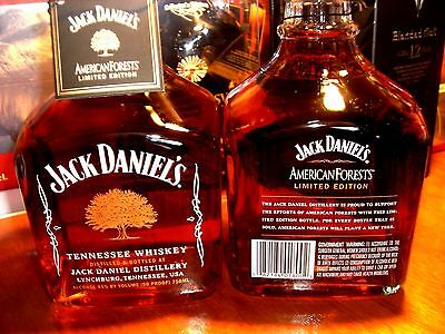 1 x JACK DANIEL'S ♦ AMERICAN FOREST ♦ 750 Ml ♦ 45% ♦ Tag ♦ LMTED. EDITION ♦ RARE