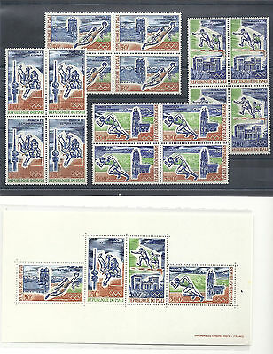 Mali,1972,OlympicGames,Munich72,Summer,compl.set in bl. of 4,MNH,Scc147-c150+99