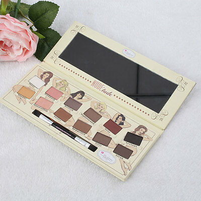 12 Colors Matte Shimmer Eyeshadow Palette Makeup Eye Shadow With Brush Colorful