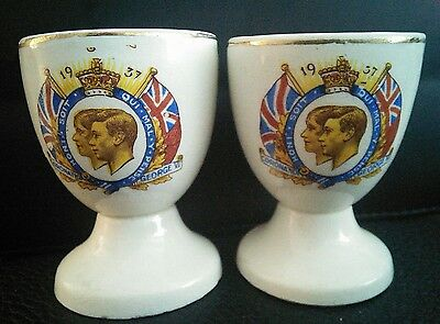 Rare Vintage 1937 Egg Cups For The Coronation Of King George V1