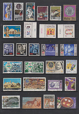 Collection Of  Stamps From Malta  , See Scans