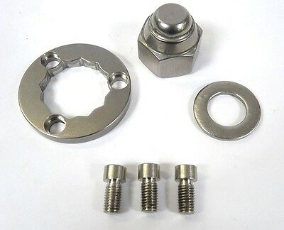 Lambretta Rear Hub Nut Kit Stainless  Mb 3 Hole New !!