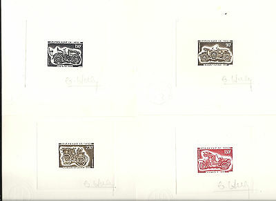 Mali,1975,Cars,compl.signed,artist die proofs,essay,Sc 240-243, Mi 492-495