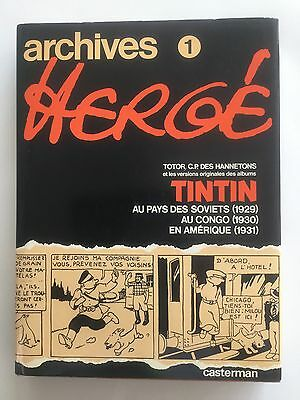 Archives Herge. Tome 1 Rare Tintin Book In French