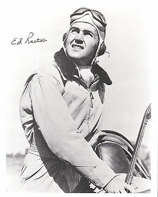 Claire Chennault's Edward Ed Rector Signed Photo Flying Tigers Pappy Boyington