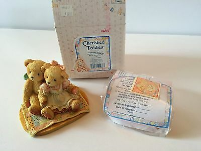CHERISHED TEDDIES NATHANIEL AND NELLIE ITEM #950513  New in box