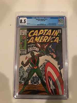 Captain America #117 Cgc 8.5 Off-White To White Pages - 1St App. The Falcon
