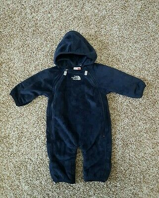 NWT North Face 0 3 months boys North Face Infant oso snow suit baby blue new
