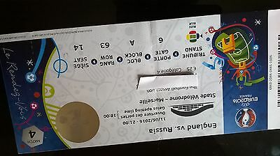 Used England Ticket V Russia Euros 2016