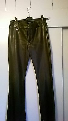 SOS ITALIAN LEATHER LOOK TROUSERS size 10