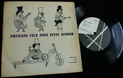 STEVE BENBOW American Folk Song - Rare UK 77 Records EP 1958, Only 100 Copies