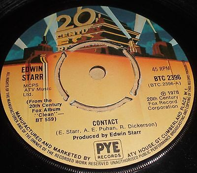 """Edwin Starr Contact / Don`t Waste Your Time 7"""" Vinyl 4  Pronged Centre"""