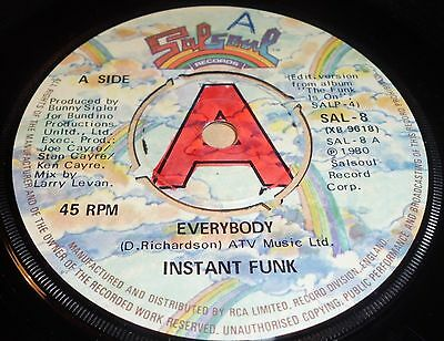 """Instant Fun Everybody / You Want My Love  7"""" Vinyl Salsoul Records"""