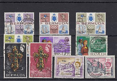 Bermuda.10 -- Qe2 1968/70 Used Stamps On Stockcard
