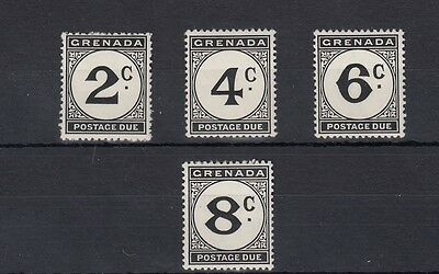 Grenada. 4 -- 1952 Mounted Mint Postage Due Stamps On Stockcard