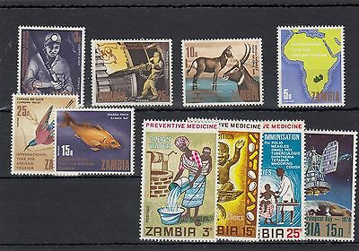 Zambia.10 -- 1969/70 Mounted Mint Stamps On Stockcard