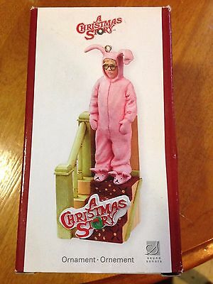 Carlton cards Ornament A Christmas Story Ralphie in Pink Bunny Suit 2007