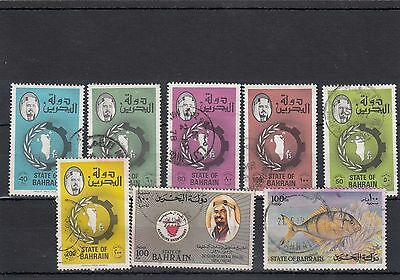 Bahrain.8 --1970's Used Stamps On Stockcard