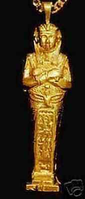 0208 Gold Plated King Tut Egyptian charm Tomb Egypt