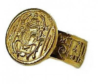 New Egyptian Egypt Ring Scarab beetle 24kt Gold plated