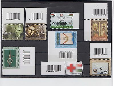 Hungary 2006 Mnh Assortment With Barcodes And Edge Of Sheet Specimens