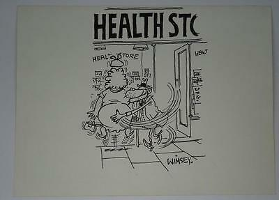 "Original Cartoon Hand Drawn Artwork By Leslie Harding ""WIMSEY"" Andy Capp Styx"