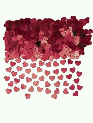 Burgundy Dark Red Heart Table Confetti Valentine Day Engagement Party Decoration
