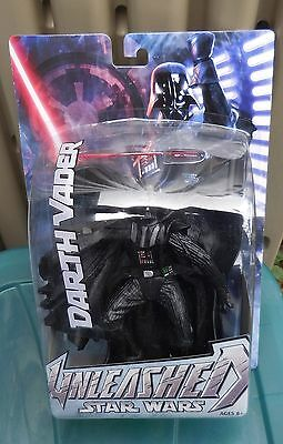 STAR WARS 2004/5 Large Unleashed Figures:  DARTH VADER, New on Card