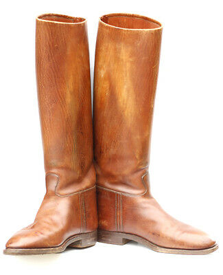Italian Officers Cavalry Guard Riding BOOTS UK 10 - Brown Leather (Men's)