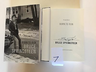 bruce springsteen signed book First Edition