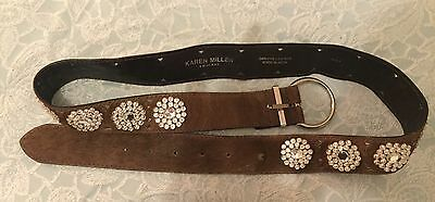 Karen Millen Brown Leather Waist Belt Size 3