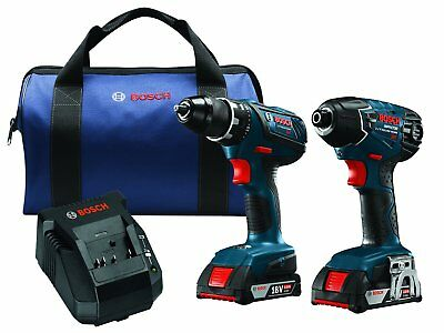 BOSCH CLPK232A-181-RT 18V Lithium-Ion Cordless Two Tool 18 Volt Combo Kit