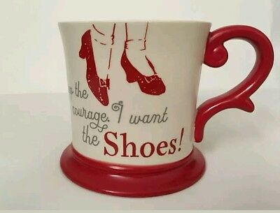 "NEW Hallmark Wizard of Oz Coffee Tea Mug Cup ""Keep the courage I want the Shoes"""