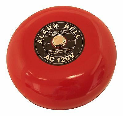 "Fire Alarm Bell, 6"", 120 VAC, Security Bell 120 volt ac …"