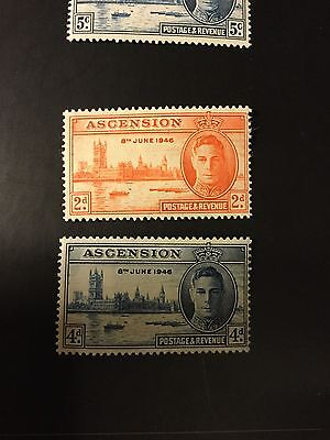 Ascension Island 1946 KGVI Victory Omnibus Set  MM