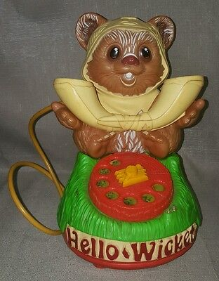 Vintage 1984 Kenner Star Wars Hello Wicket Ewoks Toy Telephone Incomplete