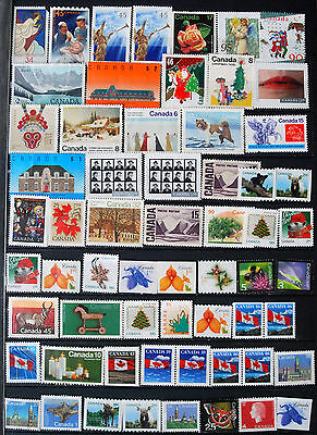 Great Collection $55+ of Mint No Gum Canadian Stamps.