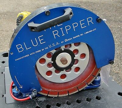 5hp Blue Ripper Sr. Model BRS5 Portable Stone Rail Saw - 230V
