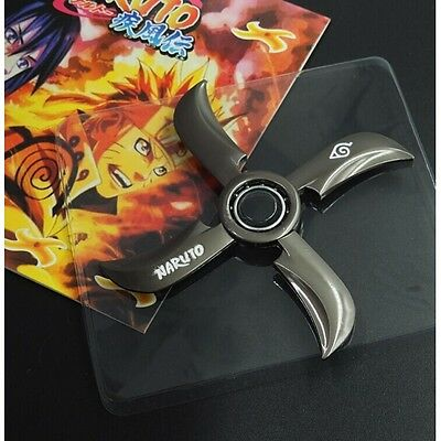 NEW - Large Uzumaki Naruto Black 4 Blades Knife Star Ninja Shuriken