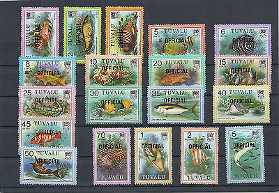 Tuvalu,1981,Fish,Fauna,official stamps,sompl.set,MNH,Sc 01-019,Mi 1-19