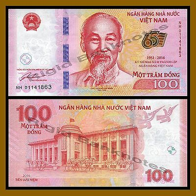 Vietnam (Vietnamese) 100 Dong, 2016 P-New 65th Anniversary of Independence Unc