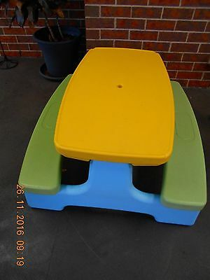 Childrens Strong Blow Mould Foldable Table And Chair Set