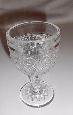 Clear Tiara Beverage CLEAR WINE CORDIAL GOBLET Sandwich Indiana Glass EXCELLENT~