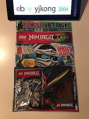 Lego NINJAGO Magazine Issue 7 Limited Edition ZANE Minifigure + 4 Shiny Posters